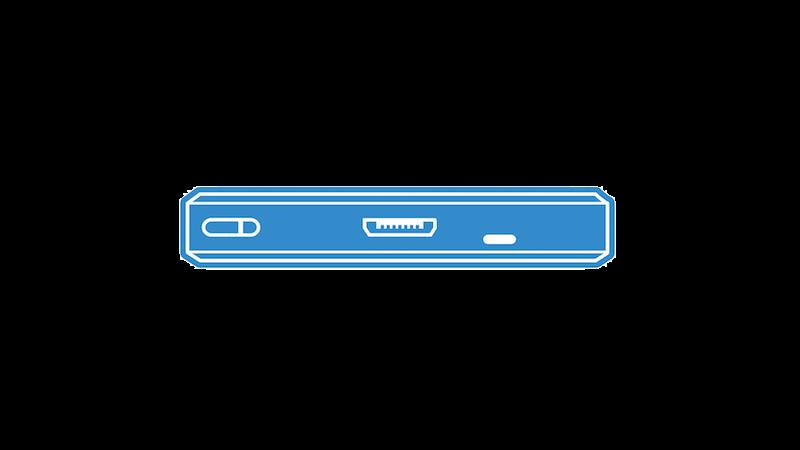MicroUSBの底面(ブルー)