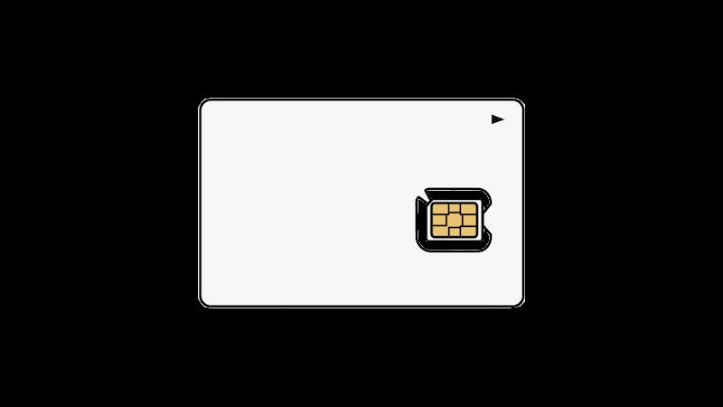 台紙付きのSIMカード