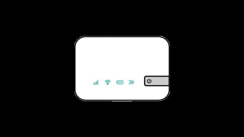 ポケットWi-Fi風(正対)のフリー素材