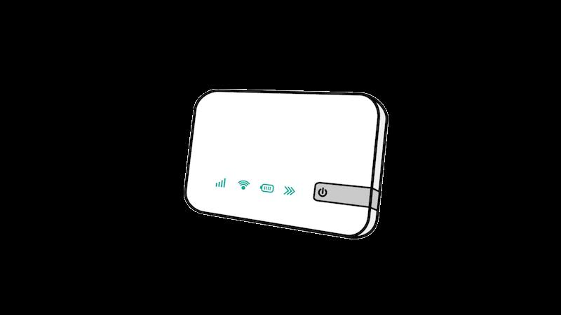 ポケットWi-Fi風(斜め)のフリー素材