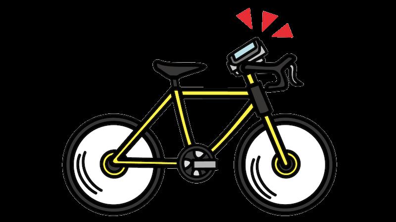 ロードバイクに取り付けたスマホのフリー素材