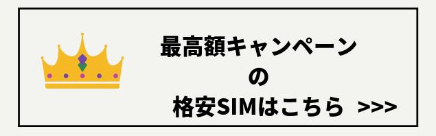 格安SIMの最高額キャッシュバックキャンペーン