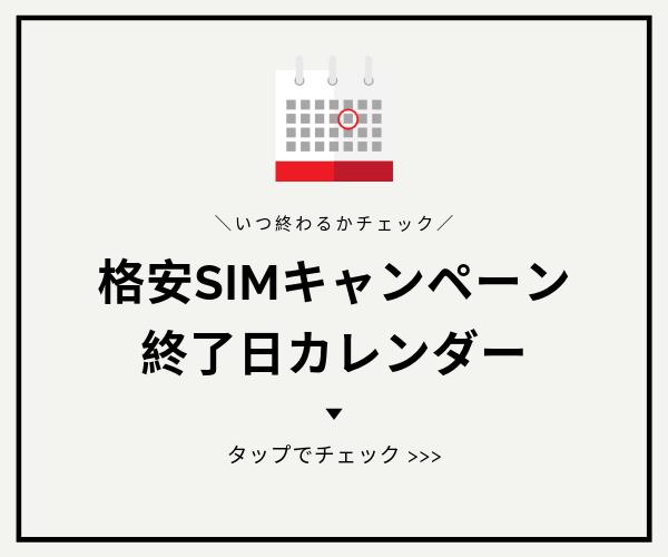 格安SIMキャンペーンカレンダー