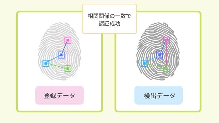 スマホの指紋認証で見る特徴点について