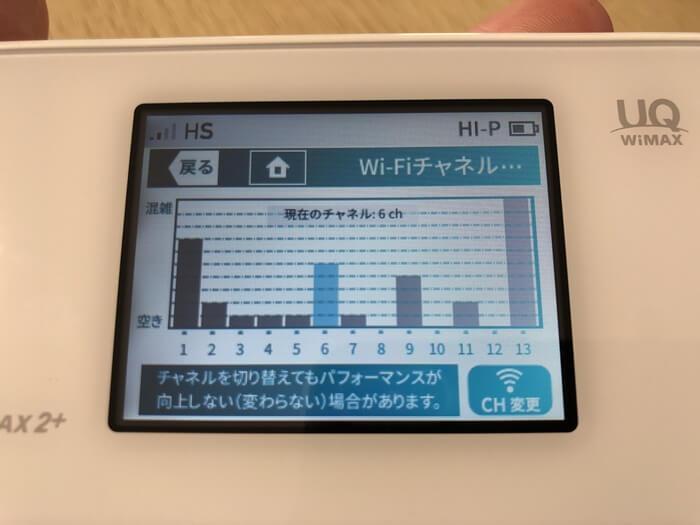 WX05のビジュアルステータス