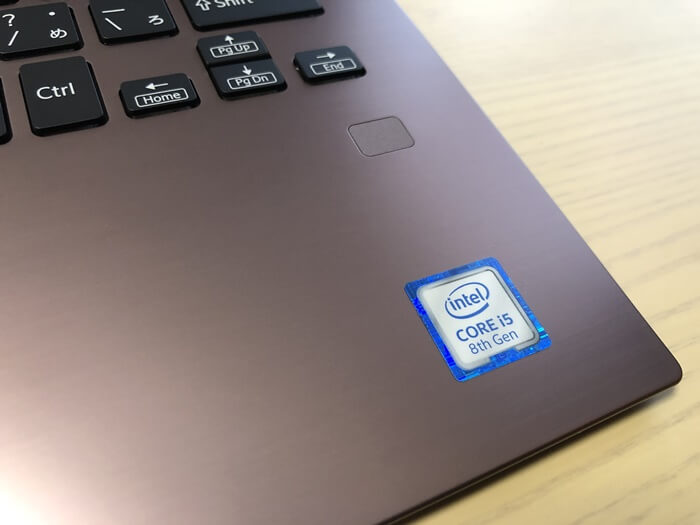 VAIO SX14の指紋認証